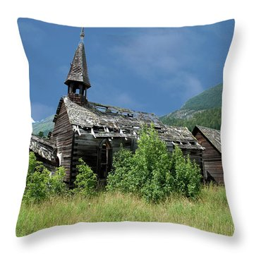 Throw Pillow featuring the photograph Seton Portage Church by Rod Wiens