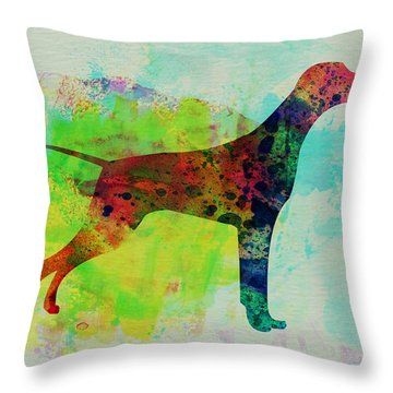 Setter Pointer Watercolor Throw Pillow by Naxart Studio