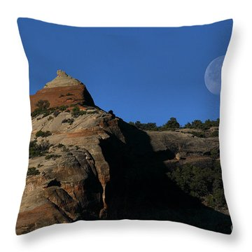 Setting Moon Throw Pillow by Steven Reed