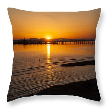 Setting On The Boardwalk 2 Throw Pillow