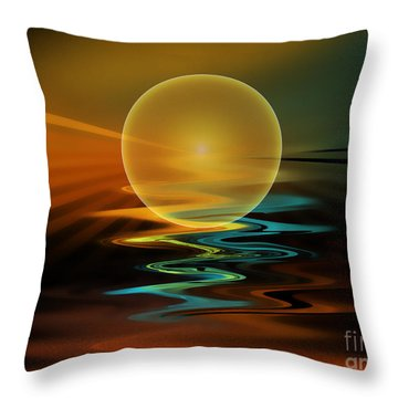 Setting Sun Throw Pillow by Klara Acel