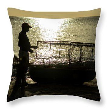 Setting Traps Throw Pillow by Rene Triay Photography