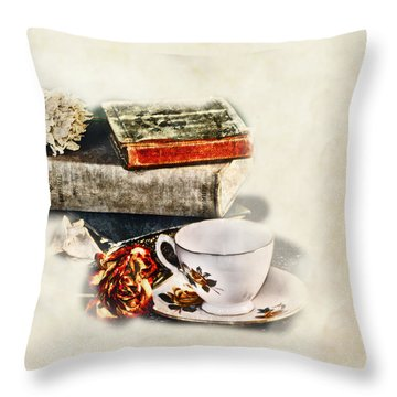 Settle In Throw Pillow by Camille Lopez