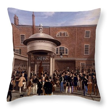 Settling Day At Tattersalls, Print Made Throw Pillow