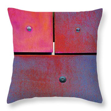Seven Eight Nine - Colorful Rust - Magenta Blue Throw Pillow