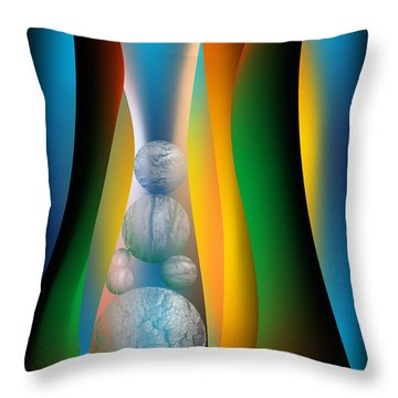 Throw Pillow featuring the digital art Seven Lean Years by Leo Symon