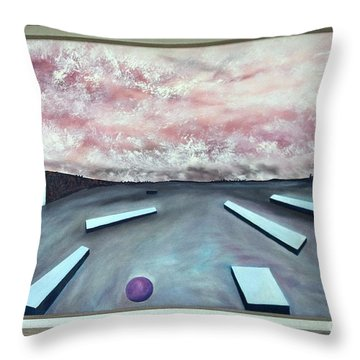 Throw Pillow featuring the painting Seven Levels Of Consciousness by Stuart Engel