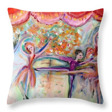 Seven O Clock Show Throw Pillow by Judith Desrosiers