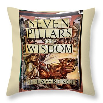 Seven Pillars Of Wisdom Lawrence Throw Pillow