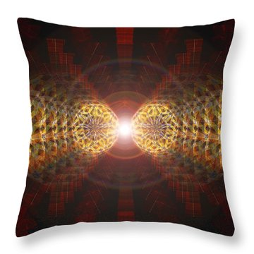 Throw Pillow featuring the drawing Seven Sacred Steps Of Light by Derek Gedney