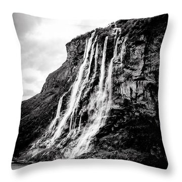Seven Sisters Waterfall Throw Pillow