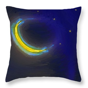 Seven Stars And The Moon Throw Pillow
