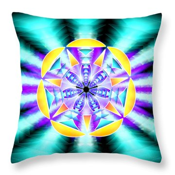 Throw Pillow featuring the drawing Seventh Ray Of Consciousness by Derek Gedney