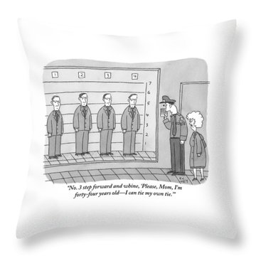 Several Men Dressed In Suits Stand In A Suspect Throw Pillow
