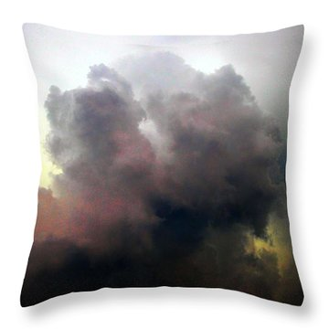 Throw Pillow featuring the photograph Severe Cells Over South Central Nebraska by NebraskaSC