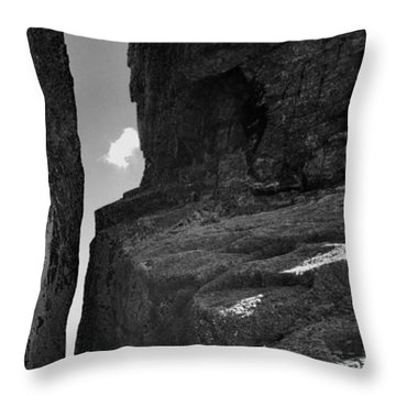 Severed Rock Throw Pillow