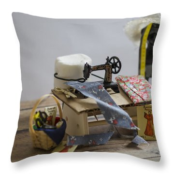 Sew Sweet Throw Pillow by Heather Applegate
