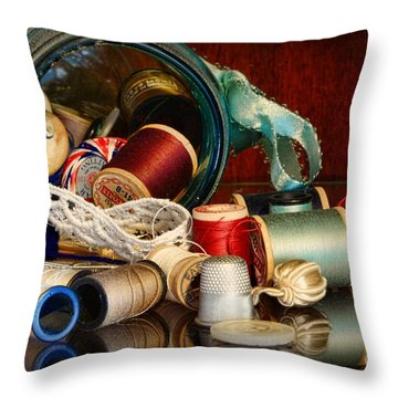 Sewing - Grandma's Mason Jar Throw Pillow by Paul Ward