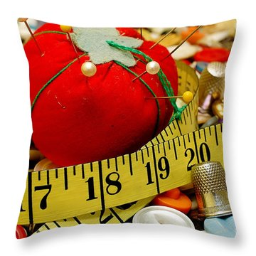 Sewing Items Throw Pillow