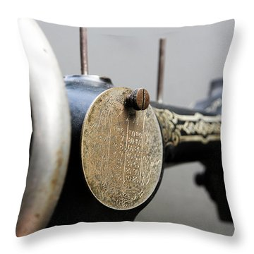 Sewing Machine 4 Throw Pillow