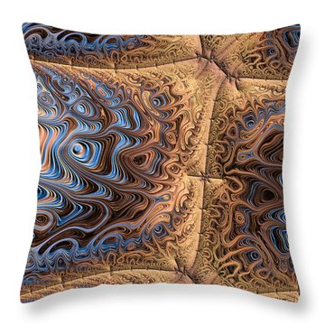 Sewn  Throw Pillow by Heidi Smith