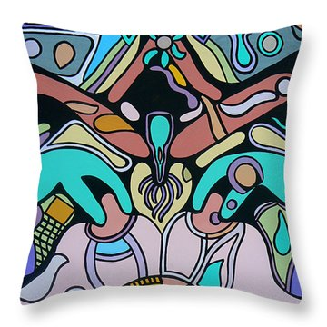 Sex Science Throw Pillow by Barbara St Jean