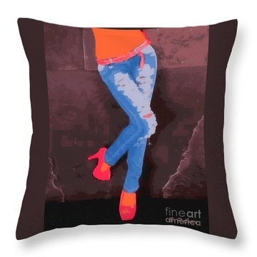 Sexy Jeans Throw Pillow