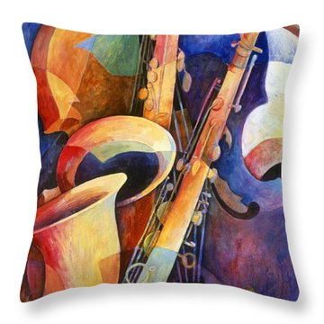 Saxophone Throw Pillows