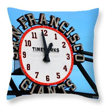 San Francisco Giants Baseball Time Sign Throw Pillow