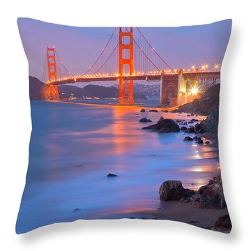 Sf Icon Throw Pillow by Jonathan Nguyen