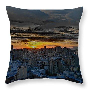 Sfo Sunset Throw Pillow