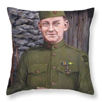 Sgt Sam Avery Throw Pillow by Jack Skinner