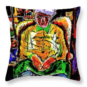 Throw Pillow featuring the digital art Shabbos In Odessa by Ted Azriel