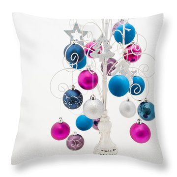 Shabby Chic Christmas Throw Pillow by Anne Gilbert