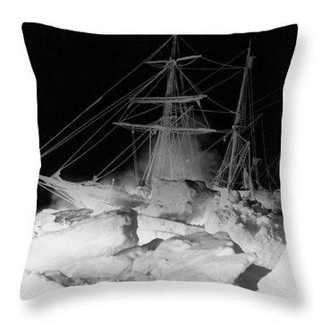 Shackleton's Ship, Endurance Throw Pillow
