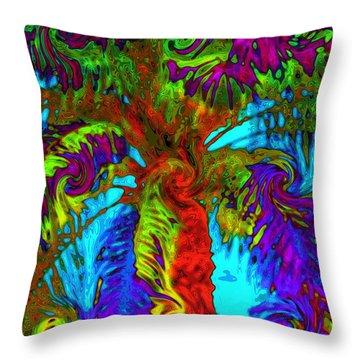 Shade Trees On Venus Throw Pillow by Alec Drake