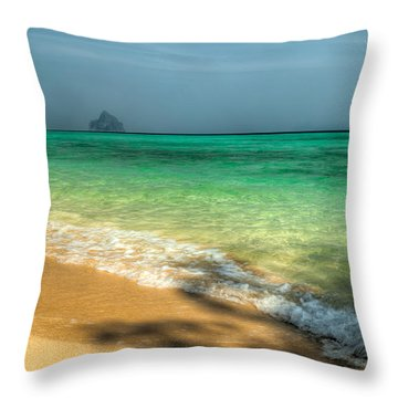 Shaded Beach Throw Pillow by Adrian Evans