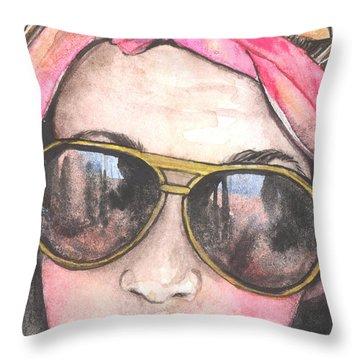 Shades Throw Pillow by Kim Whitton
