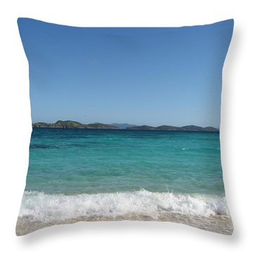 Throw Pillow featuring the photograph Shades Of Blue by Jean Marie Maggi