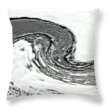Throw Pillow featuring the photograph Shades Of Cold by Debi Dmytryshyn