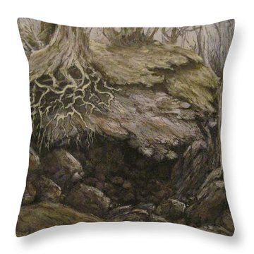 Throw Pillow featuring the painting Shades Of Froud by Megan Walsh