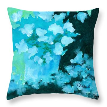 Shades Of Green And Light Throw Pillow by Kathy Braud