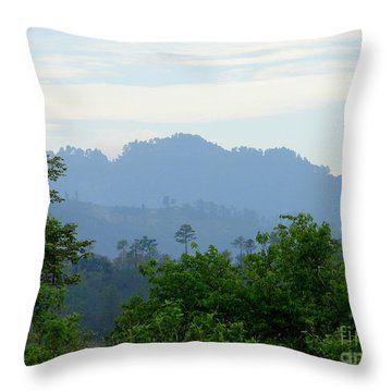 Shades Of Honduran Blue Throw Pillow