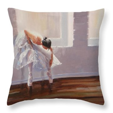Shades Of Lavender Throw Pillow by Laura Lee Zanghetti