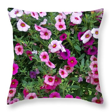 Shades Of Pink Throw Pillow by Aimee L Maher Photography and Art Visit ALMGallerydotcom
