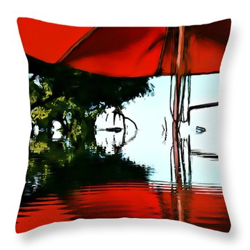 Shades Of Red Throw Pillow by Robert Smith