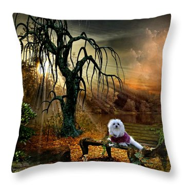 Shades Of The Fall  Throw Pillow by Morag Bates