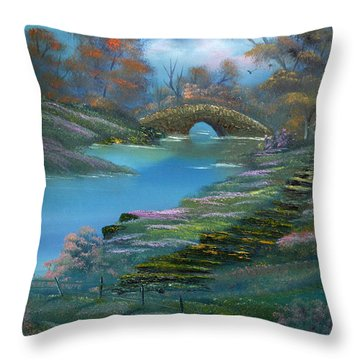Shades Of The Orient. Throw Pillow by Cynthia Adams
