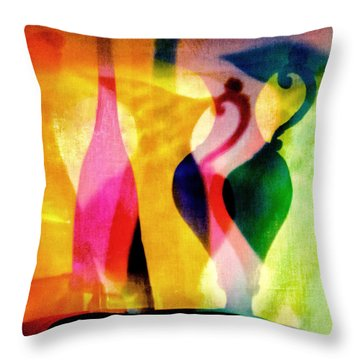 Shades Of Vase And Pitcher Throw Pillow