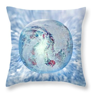 Throw Pillow featuring the painting Shades Of Winter by Robin Moline